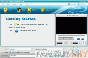 Earth Bluray To MP3 Converter 1.0.0