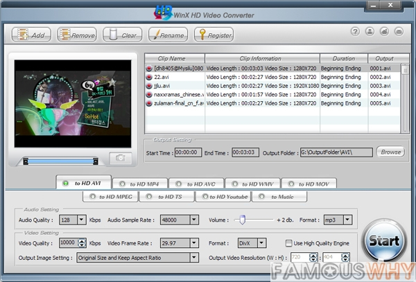 WinX HD Video Converter 3.5.0